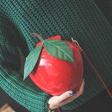 韓国のファッションかわいい漫画バッグアップル形状ショルダーバッグ新しい小型のメッセンジャーバッグパーソナリティクロスボディバッグ卸売