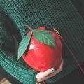 Moda coreano bonito sacos de apple forma dos desenhos animados bolsa de ombro novo saco crossbody pequenos sacos do mensageiro personalidade atacado