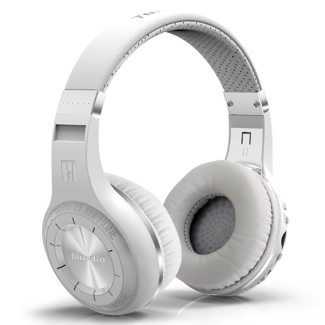 ФОТО 100% Bluedio H+ Bluetooth Stereo Wireless headphones Mic Micro-SD port FM Radio BT4.1 Over-ear headphones