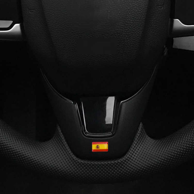 Estilo do carro Espanha pequeno Decorativo Emblema calotas volante para bmw AUDI Seat Skoda Mazda Emblema Do Carro Adesivo Acessórios