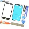 Мобильный Телефон Сенсорная Панель Экрана Внешний Стекло Объектива Замена для Samsung Galaxy SIII S3 i9300 с Tools УФ Клей Лезвие клей