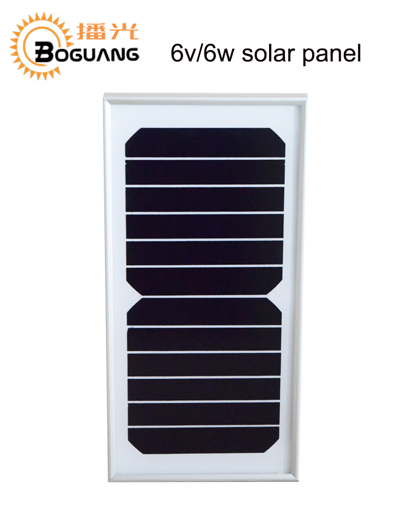 BOGUANG 5pcs 6W 6V Solar panel quality cell high efficiency Glass Module  Alu Frame for Off Grid Camp street light Roof Battery 77bc978f59