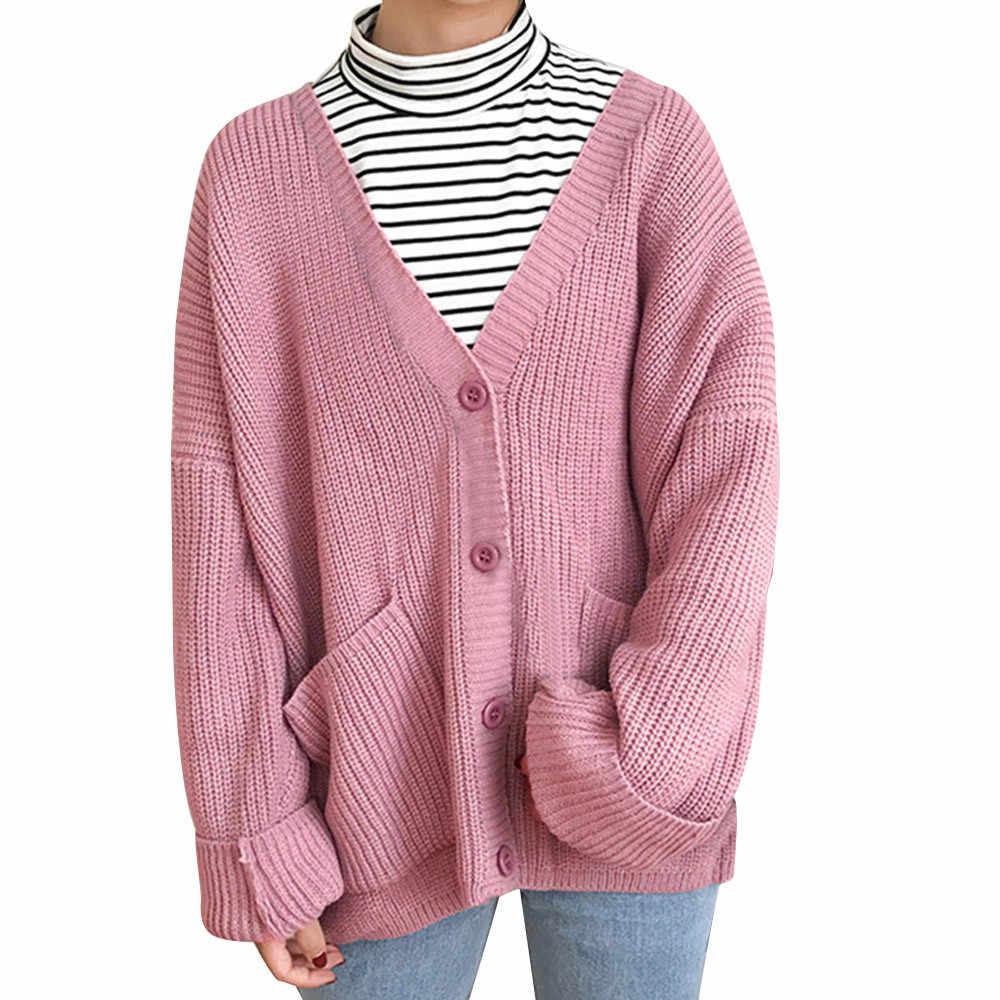 02f265f3e2243 desire 35# DROPSHIP 2018 New Arrival Fashion Women's Sweater Long Sleeve Knit  Sweater Button Loose