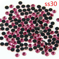 40 Gross Rhinestones China SS30 Rose Flatback And Hot Fix Crystals Motif Designs Shoe Accessories For