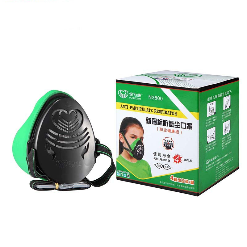 цены POWERCOM N3800 Anti-Dust Respirator Filter Paint Spraying Cartridge Gas Mask New Brand New High Quality
