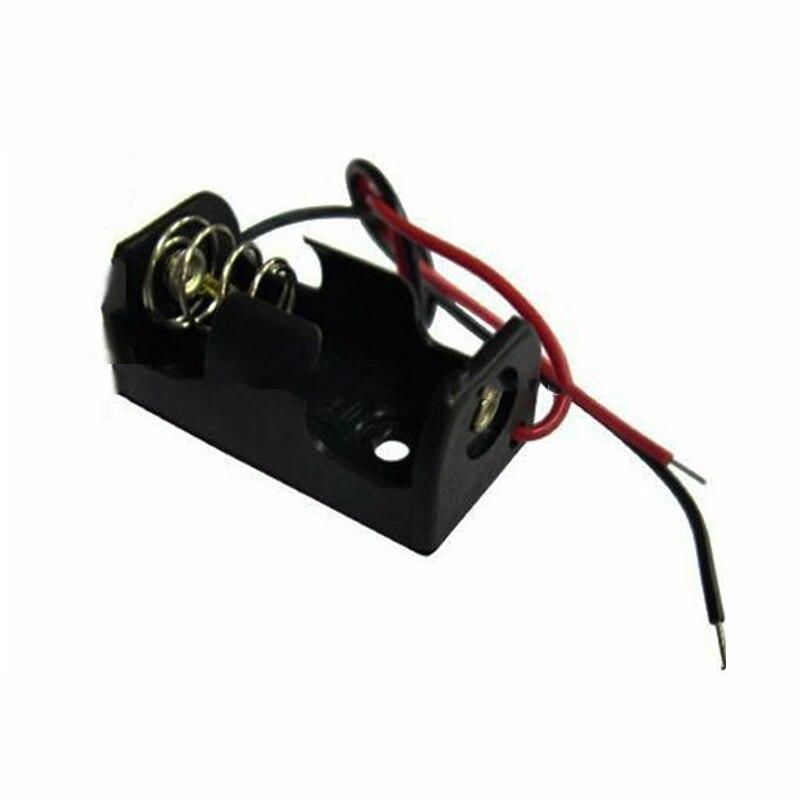 100 pièces haute qualité en plastique noir batterie stockage crépine boîte en plastique pour batterie Clip fente boîte de support de stockage