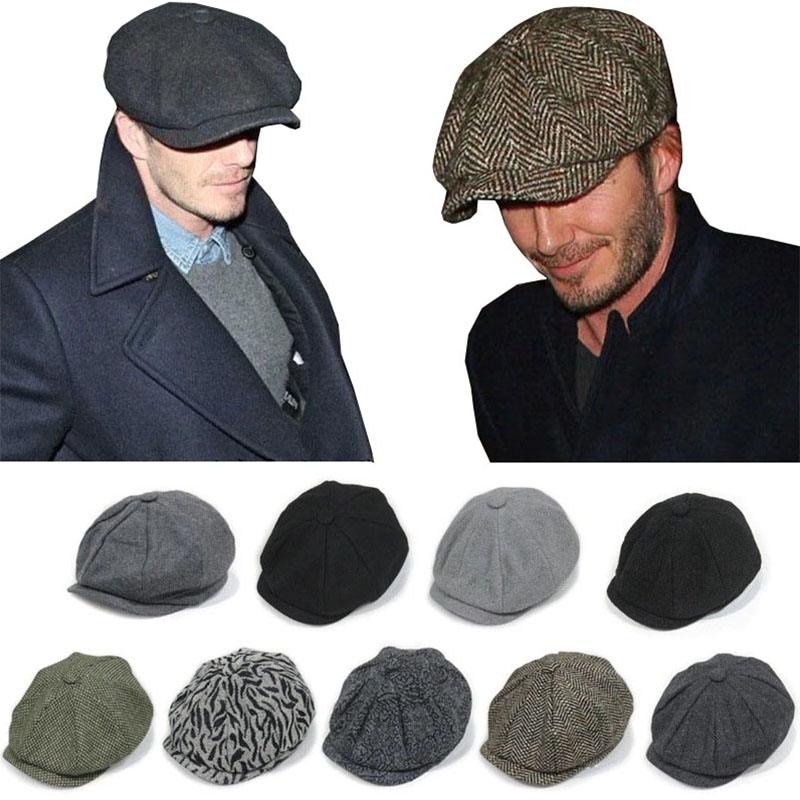 Classic Fashion Newsboy Hat Autumn And Winter Casual Dome British Plaid Hat Retro Newspaper Hat Female Artist Hat Male