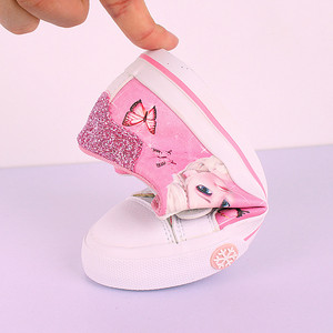 Image 4 - สาวสีชมพูรองเท้าDisney ElsaและAnna Princess Puนุ่มกีฬารองเท้ายุโรปขนาด25 36