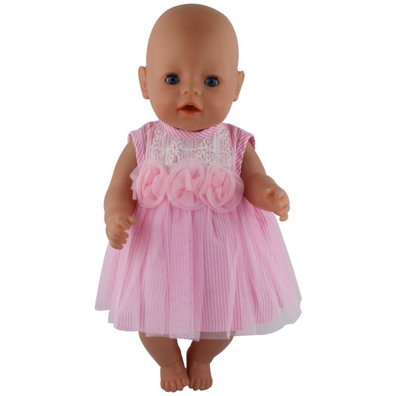 2color choose 1 Pink Dress Underwear clothes Wear fit 43cm Baby Born zapf Children best Birthday