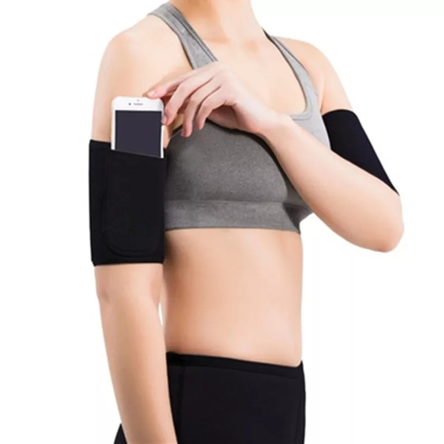 Arm Warmers Sauna Sweat Sports Fitness Womens Control Shapers Running Sleeve Slimmer Trimmer 1 Pair Neoprene Slimming Arm Sleeve