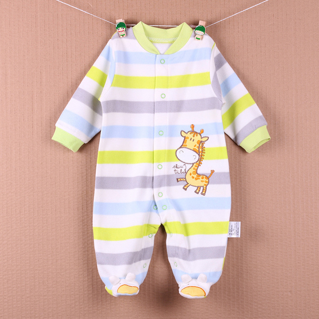b0c0cf852d11 New Arrival Baby Footies Boys Girls Jumpsuits Spring Autumn Clothes Warm Cotton  Baby Jumpsuit Fleece Baby Clothing