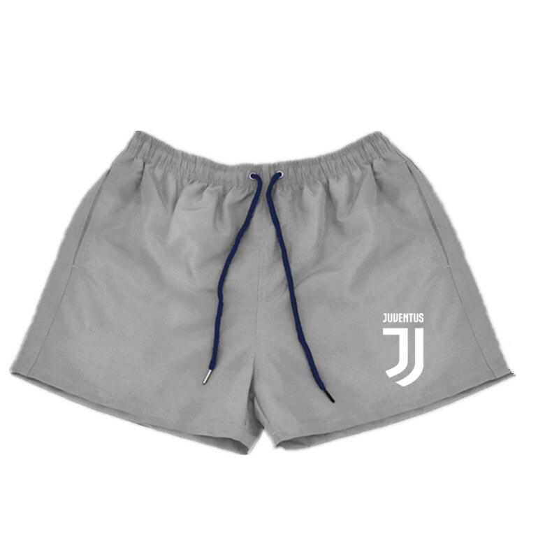 Shorts   Mens Bermuda 2018 Summer Beach Men maillot de bain Juventus Letter print Male Brand Men'S   Short   Casual Fitness Jogger