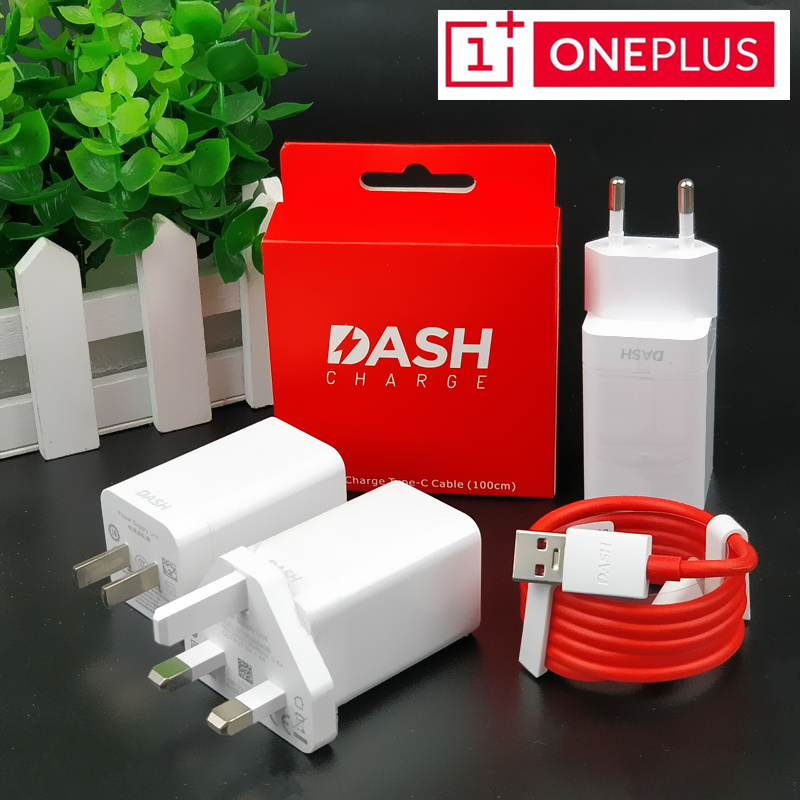Original ONEPLUS 6/5T/5/3T/3 Dash Charger mobilephone 5V/4A wall travel adapter USb 3.1 Type C fast quick qc 3.0 charge cable