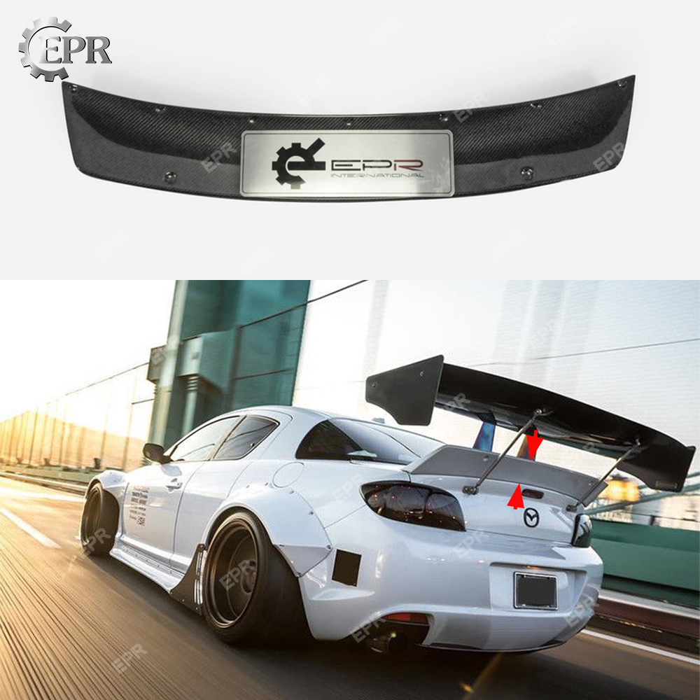 For Mazda RX8 SE3P RB Style Carbon Fiber Rear Duckbill Spoiler Tuning Trim Car Styling For RX8 SE3P Carbon Rear Trunk Wing Lip|Spoilers & Wings| |  - title=