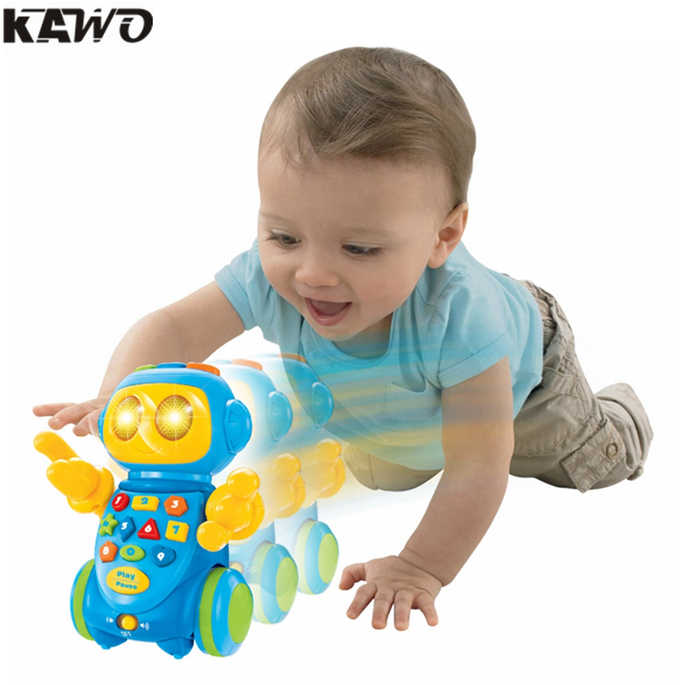 KAWO Electric Robot Flash Voice Recognition Recording Emotional Interaction Musical Parent-Child Games with Sounds and Light [readstar] speak recognition voice recognition module v3 1