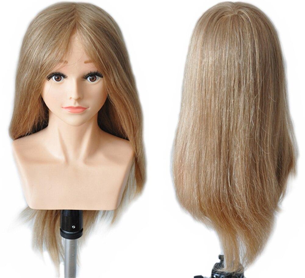 22 220g/240g 100% de Cheveux Humains De Coiffure Concurrence Niveau Formation Pratique Head Mannequin Mannequin Tête #27