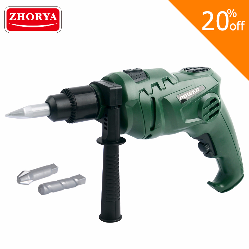 Zhorya Pretend Play Repair Tools Electric Spinning Drill Christmas Gifts House Play Toys Maintenance Tool for kids Children