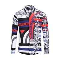 True Reveler 2018 new styles designer fashion dress shirts men long sleeve hip hop hawaii party club tops nightclub blouse