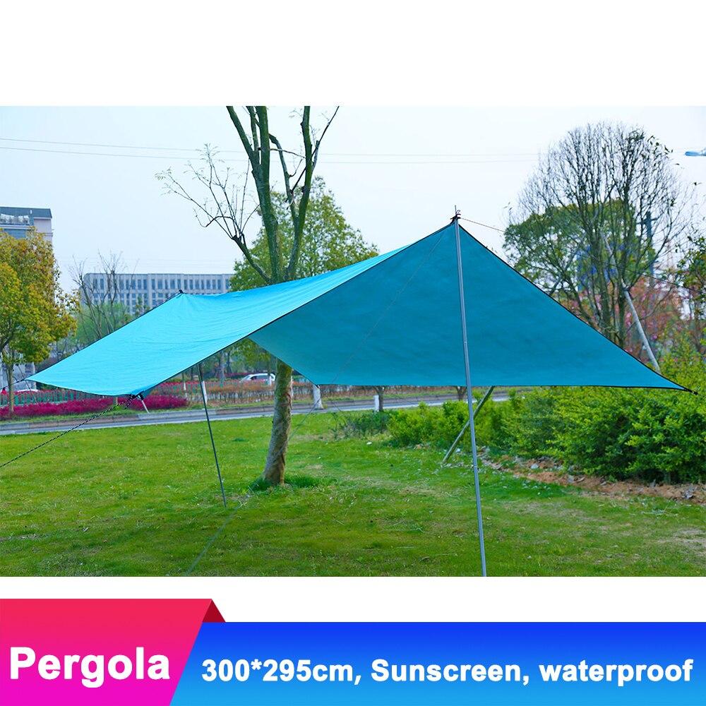 Toile Oxford extérieure Pergola étanche revêtement argent auvent protection solaire parasol tente de plage abri soleil Camping piège