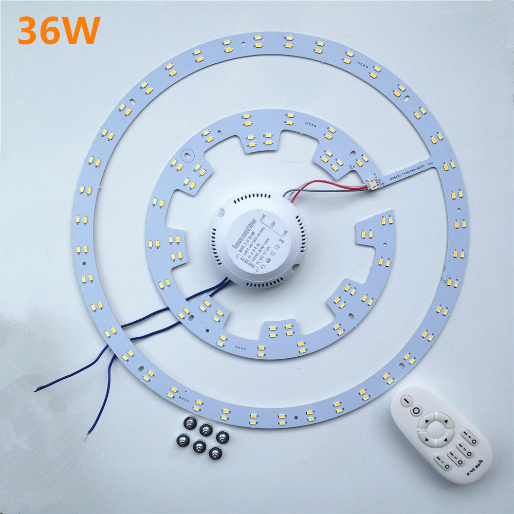 Replacement 75W CFL 360mm 36W Magnetic Led Lamp 2.4g RF Remote Control Ceiling Panel Light Board Led Plate Dimming 2014new product 24w 2 4g rf touch remote control led ceiling panel 5630smd led lamp non polar dimming color temperature