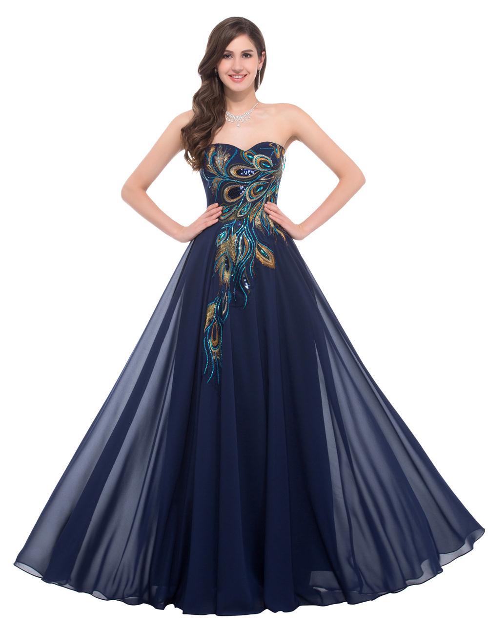 Popular peacock bridesmaid dresses buy cheap peacock for Formal dresses for weddings cheap