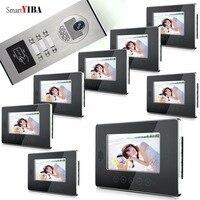SmartYIBA Video Doorphones RFID Code Outdoor Camera For 2 To 12 Stories Buildings Apartments Doorbell Door