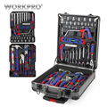 WORKPRO 111 корпус чемодана из пластика набор инструментов алюминиевая коробка набор инструментов для дома наборы инструментов