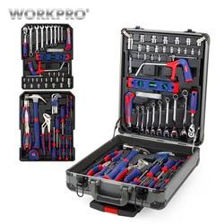 WORKPRO 111PC чехол на колесиках набор инструментов алюминиевый ящик набор инструментов для дома
