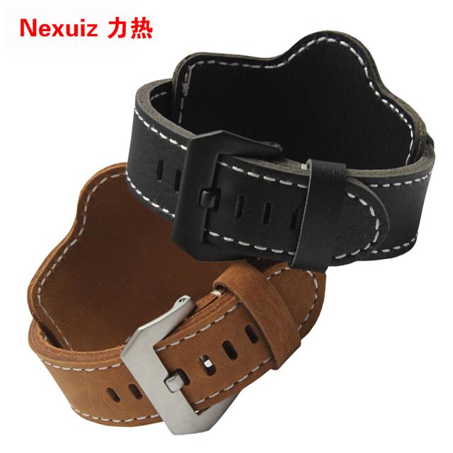 Nova Chegada Pulseiras de Relógio pulseiras de relógio de Luxo de alta qualidade relógio de pulseira de 22 | 24mm tiras de couro genuíno Frete grátis