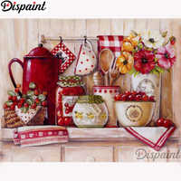 """Dispaint Full Square/Round Drill 5D DIY Diamond Painting """"Kitchen utensils scenery"""" Embroidery Cross Stitch 5D Home Decor A11467"""