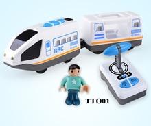 Uzaktan kumanda elektrikli lokomotif uyumlu manyetik Thomas ahşap parça Brio parça RRC EXPRESS KAMYON EMU kombinasyonu