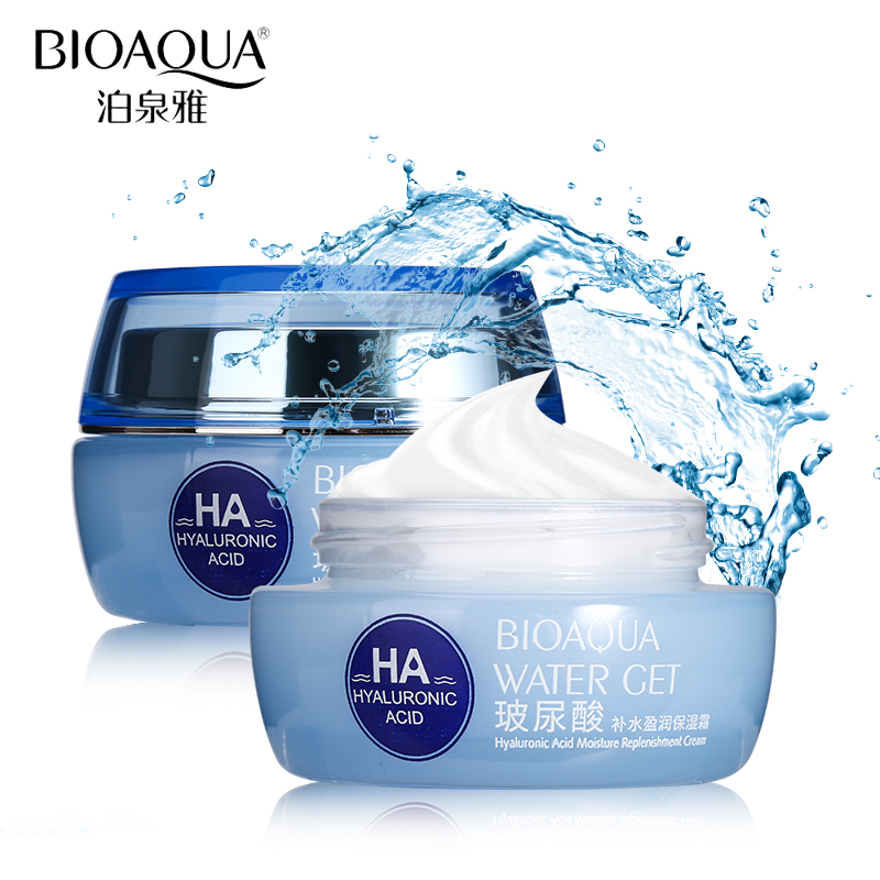BIOAQUA Brand Hyaluronic Acid Moisturizing Face Cream Improve Dry Skin Anti Wrinkle Anti Aging Collagen Whitening Day Cream 50g image