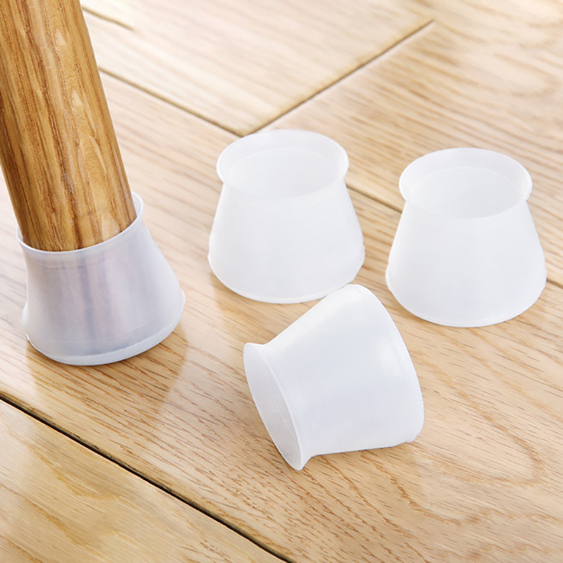 4Pcs/Set Silicone Rectangle Square Round Chair Leg Caps Furniture Table Covers Feet Pads Wood Floor Protectors Pads Protective