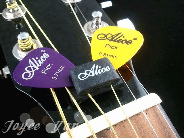 Alice A010C Guitar HeadStock Rubber Pick Holder مع 5pcs مجانا الغيتار اللقطات حرية الملاحة