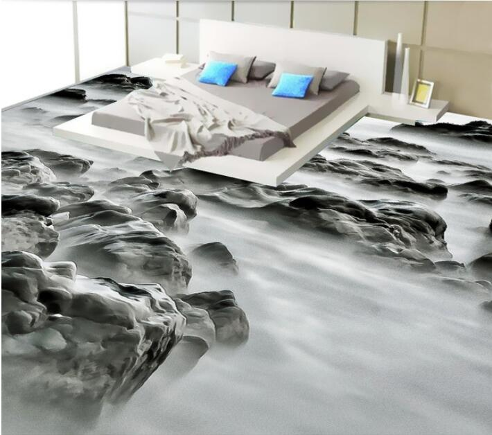 ФОТО 3d PVC flooring custom waterproof self adhesion sea rock landscape fashion 3 d bathroom flooring photo 3d wall murals wallpaper