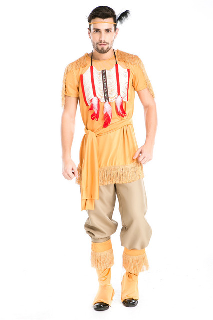 Halloween Party Cosplay Adult Native Red Indian Man Brave Warrior Chief Up Cowboy Costume Primitive Savage  sc 1 st  AliExpress.com & Halloween Party Cosplay Adult Native Red Indian Man Brave Warrior ...