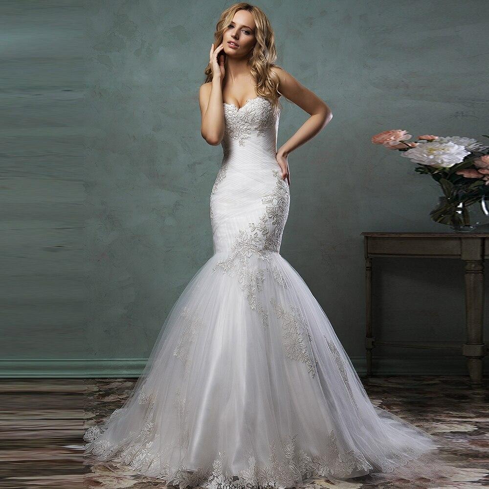 Online Get Cheap Strapless Sweetheart Lace Wedding Dress ...