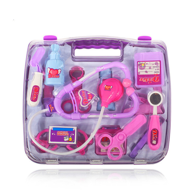 14pcs in each  box children play puzzle simulation medicine case doctor suit girl / boy toy