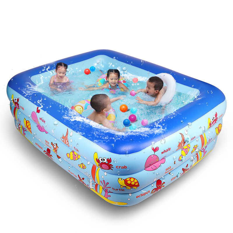 180cm 3 ring Kids inflatable pool baby swimming pool children inflatable swimming pool Indoor pool