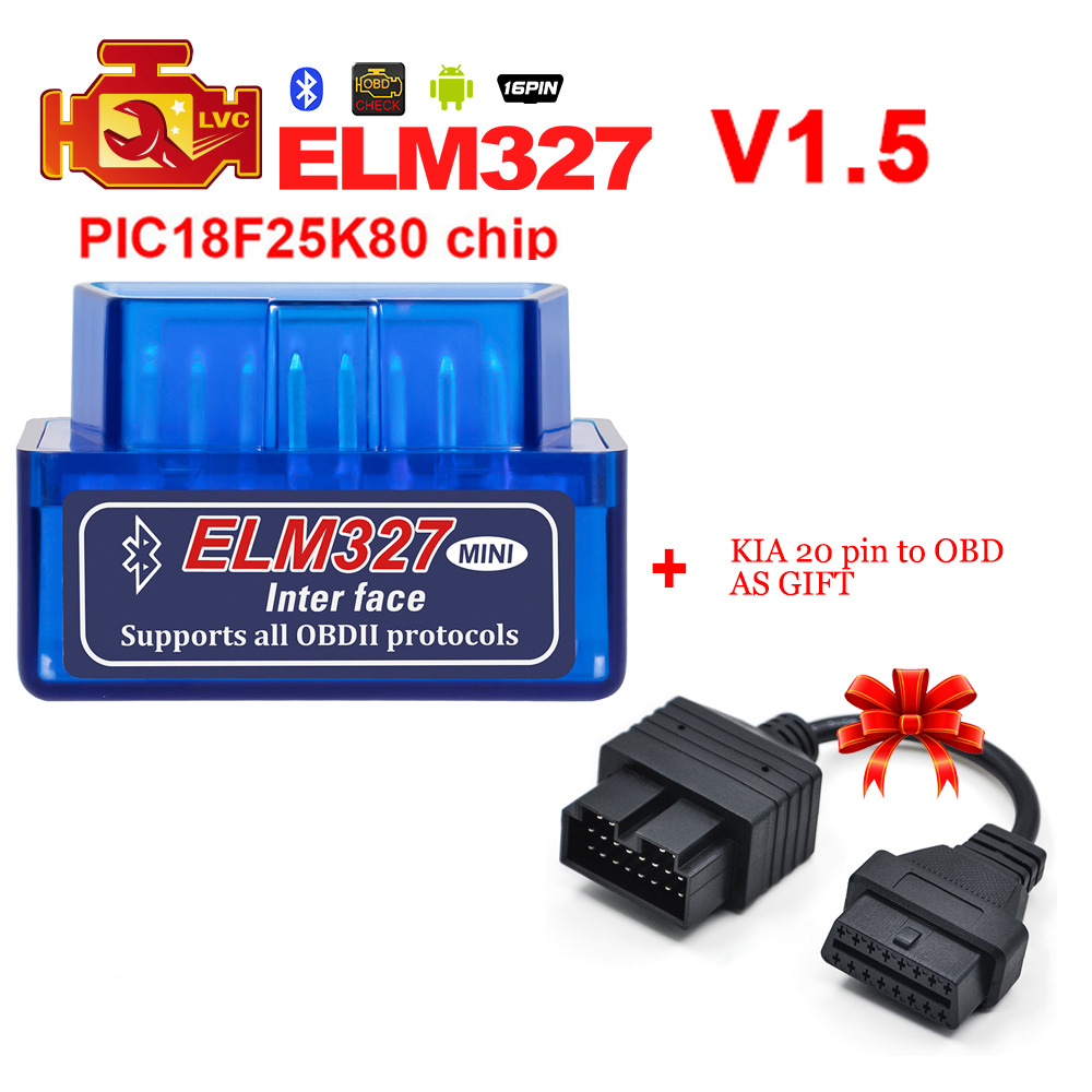 US $10 89  ELM327 Bluetooth OBD2 Scanner V1 5 PIC18F25K80 super mini ELM  327 code reader for Diesel Cars Supports Android/Windows/PC-in Code Readers  &