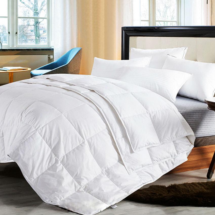 Peter Khanun Four Seasons Quillt White Goose Comforter Duvet Blanket 100 Cotton Shell Twin