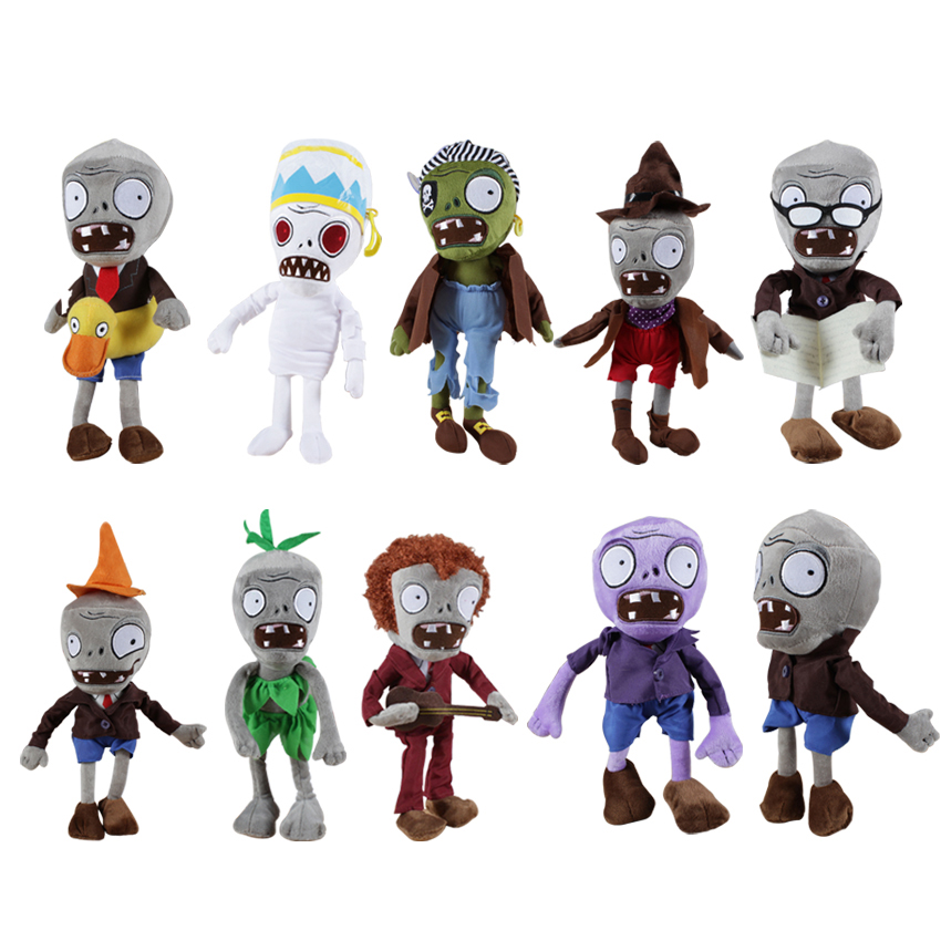 1PC 30cm 12'' Plants vs Zombies Soft Plush Toy Doll Game Figure Statue Baby Toy for Children Gifts Party toys hot sale plants vs zombies cucumber plush toy doll game figure statue baby toy for children gifts party toys