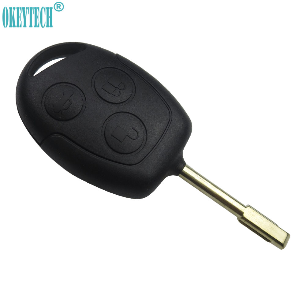 OkeyTech Replacement 3 Buttons Uncut Blade Remote Car Key Shell Case Fob Cover For Ford Focus Mondeo Festiva Fusion Suit Fiesta