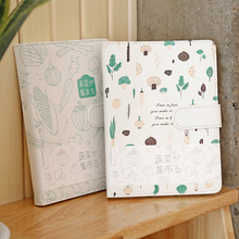 Vegetable Market Notebook Notepad PU Magnetic Buckle Notepad Portable Account Diary 1PCS