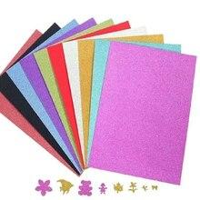 20pcs/pack New A4 Glitter A4 Gold Powder Sponge Paper sticker Handmade DIY Crafts Materials Kids