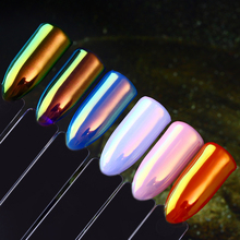 BORN PRETTY Neon Unicorn Mermaid Nail Powder Mirror Nail Art Chrome Decoration Pigment Manicure Glitter Accessories
