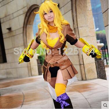 RWBY Yellow Trailer Yang Xiao Long Cosplay Costumes For