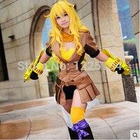 Rwby remorque jaune Yang Xiao Long uniforme veste Top Shorts Anime Halloween Cosplay Costumes pour femmes tenues
