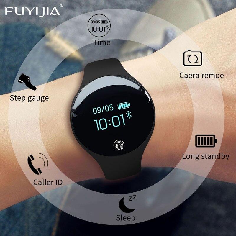 New FUYIJIA Relogio Feminino Smart Watch Men Multifunction Sports Watches Couple Bluetooth Watches Woman Silicone Bracelet Watch