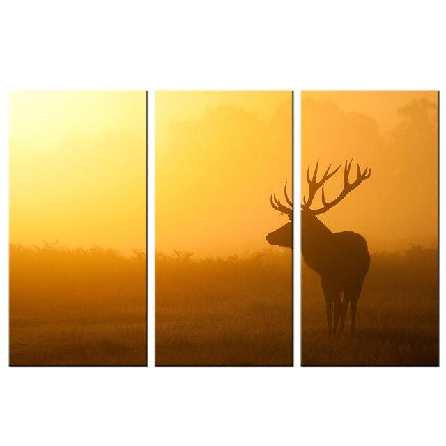 Canvas Print Wild Animal Deer Wall Art Painting HD Print Elk Picture ...